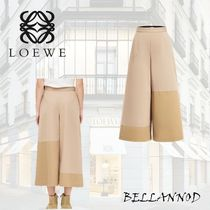 LOEWE Plain Cotton Medium Elegant Style Culottes & Gaucho Pants
