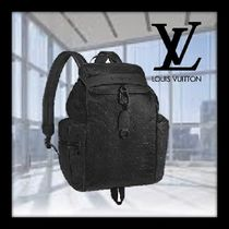 Louis Vuitton MONOGRAM A4 Chain Leather Backpacks