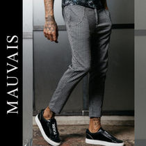 Zigzag Street Style Cropped Pants