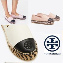 Tory Burch Platform Bi-color Leather Elegant Style Lace-Up Shoes