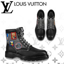 Louis Vuitton Plain Toe Mountain Boots Blended Fabrics Plain Leather