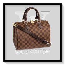 Louis Vuitton SPEEDY Other Check Patterns Casual Style Canvas Blended Fabrics