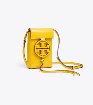 Tory Burch MILLER Casual Style Plain Leather Crossbody Shoulder Bags