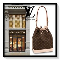 Louis Vuitton NOE Monogram Casual Style Canvas Blended Fabrics Purses Handbags