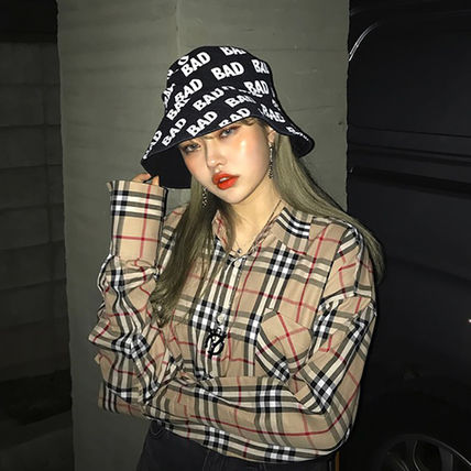 Shirts Other Check Patterns Unisex Street Style Long Sleeves Cotton 5