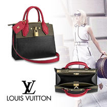 Louis Vuitton CITY STEAMER 3WAY Bi-color Leather Handbags