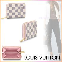 Louis Vuitton ZIPPY COIN PURSE Other Check Patterns Canvas Blended Fabrics Bi-color