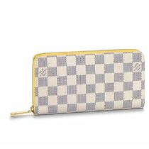 Louis Vuitton ZIPPY WALLET Other Plaid Patterns Canvas Blended Fabrics Bi-color Chain