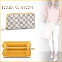 Louis Vuitton ZIPPY WALLET Other Check Patterns Canvas Blended Fabrics Bi-color Chain