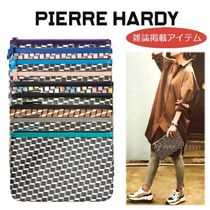 Pierre Hardy Casual Style Unisex Bag in Bag 2WAY Leather Clutches