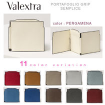 Valextra Plain Leather Folding Wallets