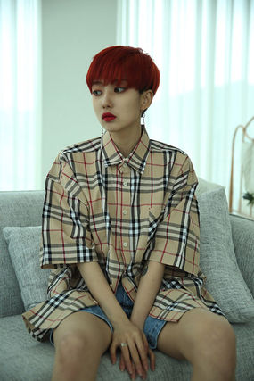 Shirts Other Check Patterns Unisex Street Style Cotton 8