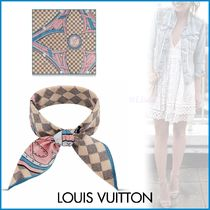 Louis Vuitton DAMIER AZUR Other Check Patterns Bi-color Cotton Elegant Style