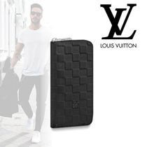 Louis Vuitton DAMIER INFINI Other Check Patterns Street Style Leather Long Wallets