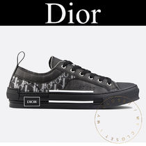 Christian Dior Monogram Blended Fabrics Street Style Leather Sneakers