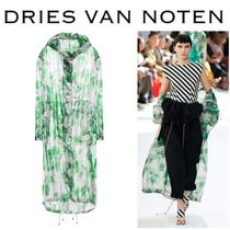 Dries Van Noten Flower Patterns Monogram Long Elegant Style Coats