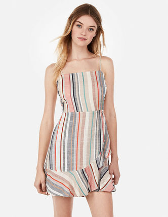 Stripes Casual Style Dresses