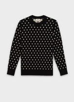 CELINE Pullovers Dots Wool Long Sleeves Knits & Sweaters