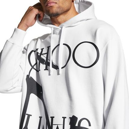 Jimmy Choo Hoodies & Sweatshirts Unisex Street Style Long Sleeves Cotton Medium 13