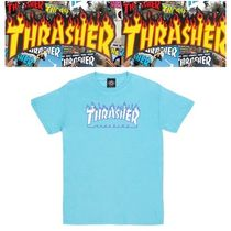 THRASHER Unisex Street Style Cotton Short Sleeves T-Shirts