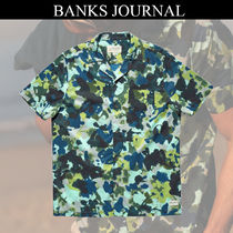 BANKS Button-down Camouflage Short Sleeves Shirts