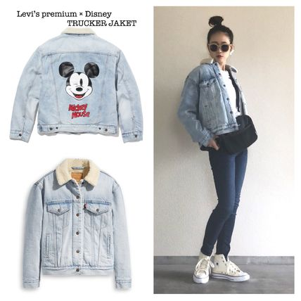 Casual Style Denim Collaboration Jackets