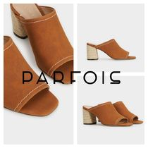 PARFOIS Casual Style Plain High Heel Pumps & Mules
