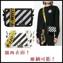 Off-White BINDER CLIP Casual Style Calfskin Street Style Shoulder Bags