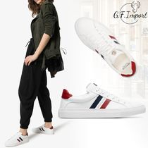 MONCLER Round Toe Rubber Sole Lace-up Casual Style Leather