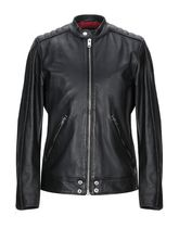 DIESEL Short Leather Oversized Biker Jackets