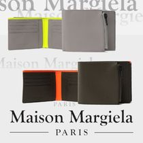 Maison Martin Margiela Bi-color Plain Leather Folding Wallets