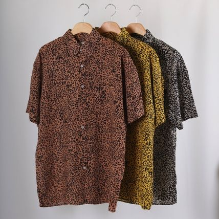 Shirts Leopard Patterns Short Sleeves Shirts