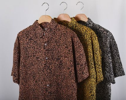 Shirts Leopard Patterns Short Sleeves Shirts 2