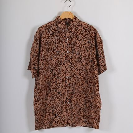 Shirts Leopard Patterns Short Sleeves Shirts 3