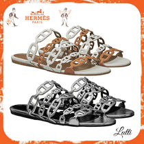 HERMES Leather Sandals
