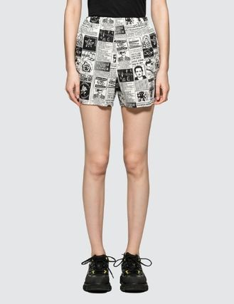 Printed Pants Short Casual Style Street Style Cotton