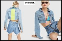 DIESEL Denim Street Style Plain Jackets