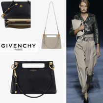 GIVENCHY Casual Style Calfskin Blended Fabrics 3WAY Plain