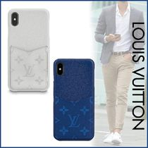 Louis Vuitton MONOGRAM Monogram Blended Fabrics Street Style Leather
