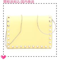 VALENTINO Studded Chain Plain Shoulder Bags