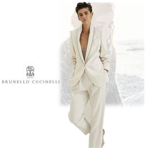BRUNELLO CUCINELLI Blended Fabrics Plain Medium Office Style Jackets