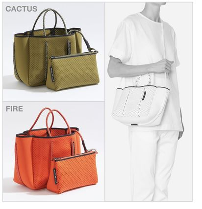 Casual Style Collaboration 2WAY Plain Totes