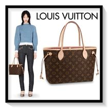 Louis Vuitton NEVERFULL Monogram Casual Style Canvas Blended Fabrics 2WAY Handbags