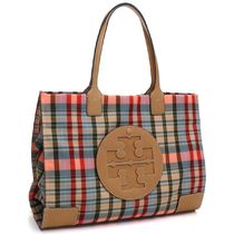 Tory Burch Other Check Patterns Casual Style Nylon A4 Totes 54510