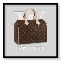 Louis Vuitton SPEEDY Monogram Canvas Blended Fabrics 2WAY Boston & Duffles