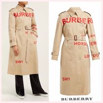 Burberry Gingham Casual Style Street Style Long Coats