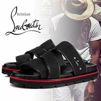 Christian Louboutin Blended Fabrics Leather Sandals