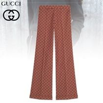 GUCCI Printed Pants Monogram Blended Fabrics Cotton