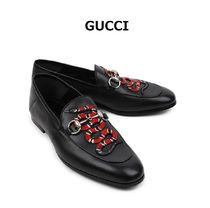 GUCCI Loafers Leather Loafers & Slip-ons