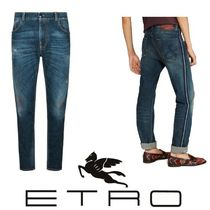 ETRO Stripes Street Style Cotton Jeans & Denim